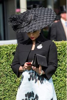 Princess Haya in Philip Treacy, June 16, 2015 | Royal Hats