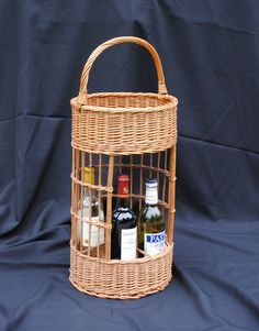 Vintage French Wicker Wine Bottle Basket For Sale at www.theoriginalfrenchfurniturecompany.com