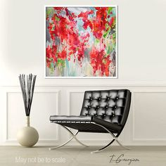 """Large ABSTRACT print of my own original painting, Giclee print, """"Abstract no.64"""""""