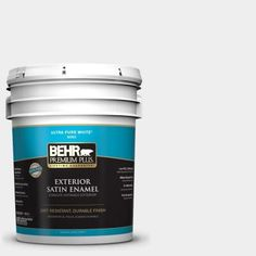 Etonnant BEHR Premium Plus 5 Gal. #W D 610 White Glove Satin Enamel Exterior Paint    For The Trim And The Garage Door. I Just Have To Make Sure The Texture  Matches ...