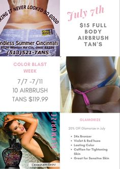 July 2029 Airbrush Tanning, Bronzer, Cincinnati, Summer, Color, Summer Time, Colour, Colors