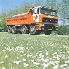 DAF FAD 2800 kippertruck van Lommerts in Delzijl Transportation, Construction, Vehicles, Europe, Cars, History, Holland, Trucks, Truck