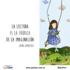 Imaginar y leer, la misma cosa.  #QueLeer #leer #felizlunes #amamosloslibros #amamosleer #libros #read #reading #book #imaginacion