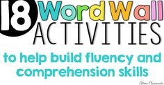 Word wall activities and ideas and a free word wall template