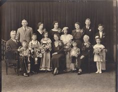 Golden Anniversary 1930s Vintage Photograph 50 Years