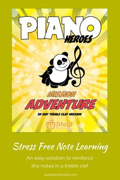 Stress Free Note Learning with 20 Day Treble Clef Mission Teaching Aids, Piano Teaching, Heroes Book, Kids Piano, Curious Kids, Treble Clef, Piano Lessons, Music Education, Stress Free