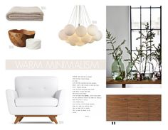 """Warm Minimalism"" by nmkratz ❤ liked on Polyvore featuring interior, interiors, interior design, home, home decor, interior decorating, Solantu, House Doctor and Arco"