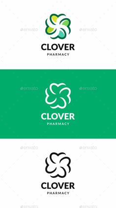 Clover Logo: Symbol Logo Design Template created by Logo Design Template, Logo Templates, Clover Logo, Branding, Best Logo Design, Professional Logo, Symbol Logo, Symbols, Logos