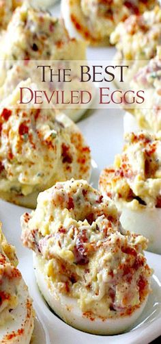 The BEST Deviled Eggs (use avocado mayo instead of miracle whip Finger Food Appetizers, Yummy Appetizers, Appetizer Recipes, Appetizers For Party, Brunch Finger Foods, Keto Finger Foods, Breakfast Appetizers, Devilled Eggs Recipe Best, Best Deviled Eggs