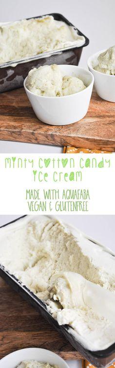 Vegan Minty Cotton Candy Ice Cream (made with Aquafaba)