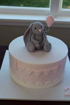 Bunny Cake - Jelly Cat Bashful Bunny. Cake by Homemade By Hollie.