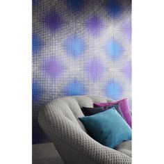 Modern wall mural with a radiant finish 330504 Purple Geometric Holograph - Flash Forward - Eijffinger Wallpaper