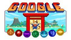 Doodle Champion Island Games Begin! Google Doodles, Google Doodle Games, Champions, Okinawa, Doodles Games, Google Today, Ninja Cats, Lion Dance, Champion Sports