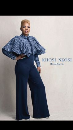 ❤️ BossQueen, Masechaba Ndlovu, in the new Khosi Nkosi Palesa Blouse. Now available at YDE African Print Clothing, African Shirts, African Print Fashion, Tribal Fashion, African Wedding Dress, African Dress, Dress Wedding, Shweshwe Dresses, African Fashion Designers