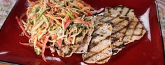 Pair your grilled chicken with this crunchy peanut slaw for a delicious and refreshing summer meal!