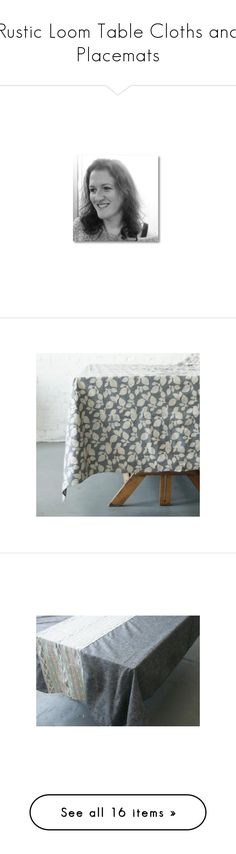 """""""Rustic Loom Table Cloths and Placemats"""" by rusticloom on Polyvore featuring home, kitchen & dining, table linens, ikat tablecloth, handmade placemats, table cloth, rustic tablecloth, batik table cloth, rustic table cloth and cloth napkins"""