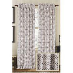 """Gracious Living Frost Linen/Cotton Blend Rod Pocket Single Curtain Panel Size: 50"""" W x 96"""" L, Color: Mist"""