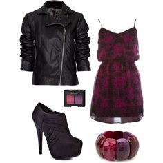 """""""That dress. Love. And what girl doesn't like leather?"""" by chelseawate on Polyvore"""