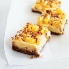 Channel the tropics with Piña Colada Cheesecake Bars | CookingLight.com