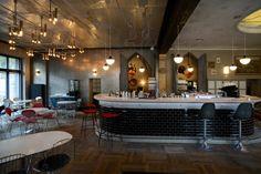 Restaurant ø Berlin - Interior Design by #KStar - Bertoia Bar Stools