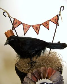 party crow printable ekit by acottageindustrycom on etsy only 2 harvest and halloween pinterest crows etsy and halloween ideas - Halloween Crow Decorations
