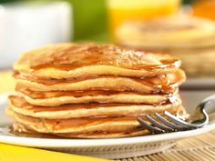 🇺🇸💛😋American Style Pancakes Recipe! So Yummy! ✨🍳🇺🇸