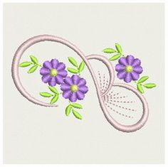 """Heirloom Flower  2 by Embroidery Designs Home  (3.15""""x2.13"""")"""