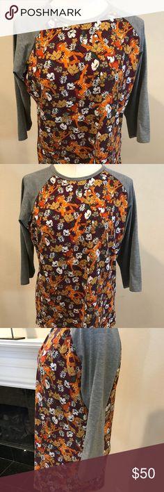 Disney LuLaRoe Sloan Bambi print shirt Excellent used condition, Bambi print Disney raglan t-shirt! LuLaRoe Tops