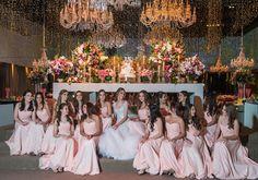 Vestido rosa para 15 valsantes - festa rosa de 15 anos Tathiana Bussab - Foto Lan Rodrigues