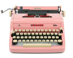 1957 Pink Royal Quiet De Luxe Typewriter / Professionally Serviced / Pink Typewriter / Royal Typewriter / Working Typewriter / Mothers Day USD) by Retroburgh Working Typewriter, Royal Typewriter, Antique Typewriter, Kelly Wearstler, Plywood Furniture, Vintage Metal, Vintage Pink, Kitsch, Glossier Pink