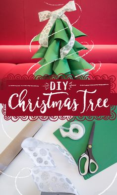 Don't sweat having no tree on December 25th. You can easily make a last-minute DIY Christmas tree with stuff you might have around the house