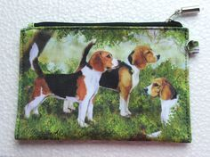 New Maltese Dog Zippered Handy Pouch Make-up//Coin Purse 3 White Dogs by Ruth