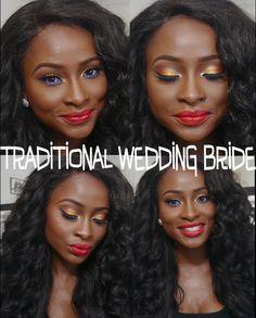 African/Asian Traditional Wedding Bride #2 Makeup Trends, Makeup Tips, Makeup Tutorials, African Makeup, African Traditional Wedding, African Fashion, African Style, Make Me Up, Flawless Makeup