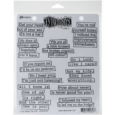 """Dyan Reaveley's Dylusions Cling Stamp Collections 8.5""""X7""""-How About Never"" #Ranger"