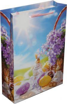 RZOnlinehandel - Oster-Geschenktasche Eier&Hasen Painting, Basket, Eggs, Packaging, Easter Activities, Gifts, Painting Art, Paintings, Painted Canvas