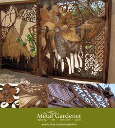 Rusted Metal, Art Furniture, Garden Gates, Tucson, Fences, Metallica, Entrance, Sculptures, Skull