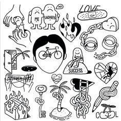 By # sketches # sketch # sketch - Kritzelei Tattoo, Doodle Tattoo, Poke Tattoo, Doodle Drawings, Cute Drawings, Doodle Art, Flash Art Tattoos, Line Art Tattoos, Body Art Tattoos