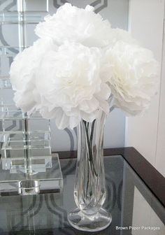 Tutorial -- how to make these gorgeous Peonies from Coffee Filters!