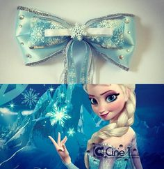 Elsa Inspired Disney Frozen Hair bow by ToInfinityBowtique on Etsy Frozen Party Decorations, Frozen Theme Party, Frozen Birthday Party, Frozen Hair Bows, Disney Hair Bows, Bow Season, Elsa Hair, Cheer Bows, Disney Crafts