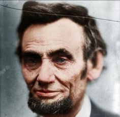 This photograph of Abraham Lincoln is always mis-quoted as the very last taken of him in life, but infact, it's only the second-to-last. Abraham Lincoln, mis-quoted last portrait in life Colorized Historical Photos, Famous Historical Figures, Historical Images, Colorized History, American Presidents, American Civil War, American History, Black And White Portraits, Black N White Images