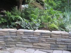 Retaining Wall Home Depot natural impressions® flagstone retaining wall | | pavestone