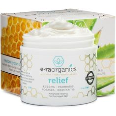 Psoriasis Eczema Cream 4oz Advanced Healing Non-Greasy Moisturizer... ($24) ❤ liked on Polyvore featuring beauty products, bath & body products, body moisturizers, body moisturizer, body moisturiser and manuka