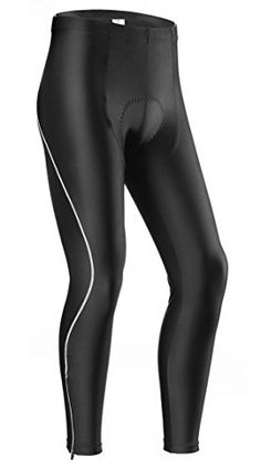 7286d0f90 Lameda Mens Bike Pants Gel Padded Compression Tights for Cycling XXLarge  Black   Visit the image