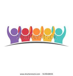 """""""People Group Getting Along. Vector graphic design illustration"""""""
