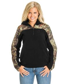 Huntworth Women's Camo & Black Fleece Pullover with Hood. Merry Christmas to me again! Country Wear, Country Girls Outfits, Country Girl Style, My Style, Womens Hunting Clothes, Clothes For Women, Camo Outfits, Girl Outfits, Girl Fashion