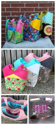 481 best Tote bag sewing patterns images on Pinterest in 2018 | Bags ...