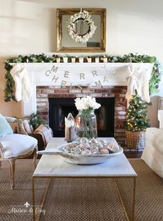 French Inspired Christmas Living Room with Touches of Soft Blush Pink! French farmhouse Christmas decor--->#maisondecinq livingroom christmasdecor christmasdecorating holidaydecor holidaydecorating christmaslivingroom frenchcountry countryfrench frenchfarmhouse farmhousestyle pinkchristmasdecor christmasdecoratingideas whitechristmasdecor French Country Christmas, Shabby Chic Christmas, Country Christmas Decorations, Christmas Mantels, Christmas Ideas, Christmas Design, Holiday Decor, Holiday Fun, Holiday Ideas