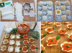 You can choose your fav filling (Tomato Sauce with sausage, cream, chicken, basil or crushed tomatoes & add salt and pepper) Sugar Cookie Dough, Appetizer Dips, Unique Recipes, Creative Food, Diy Food, Food Art, Tea Party, Projects To Try, Homemade