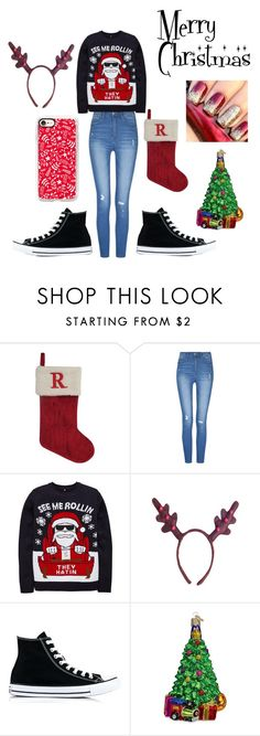 """""""MERRY CHRISTMAS:RHI RHI"""" by yoyoitzselena ❤ liked on Polyvore featuring St. Nicholas Square, Converse, Old World Christmas and Casetify"""