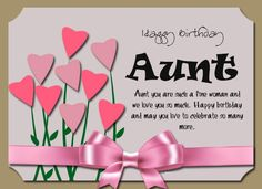 Happy Birthday Aunt Wishes Greetings For From Niece